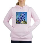 24x24 bluebonnet Women's Hooded Sweatshirt