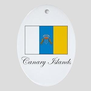 Canary Islands Flag Oval Ornament
