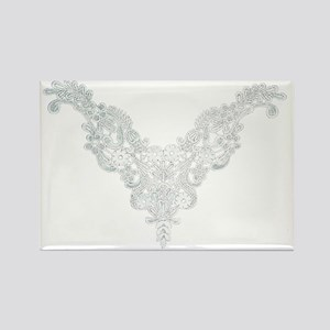 Victorian Lace Rectangle Magnet
