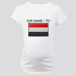 Yemen Flag (Custom) Maternity T-Shirt