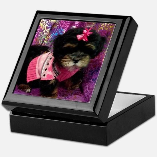 Cute Puppy Keepsake Box