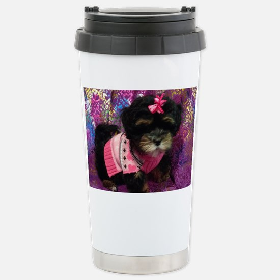 Cute Puppy Stainless Steel Travel Mug