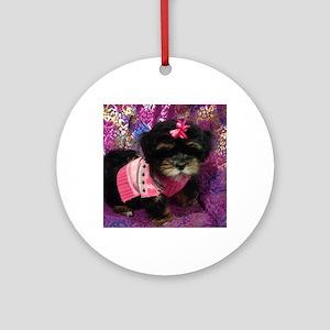 Cute Puppy Round Ornament