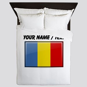 Romania Flag (Custom) Queen Duvet