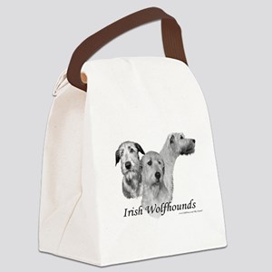 3 Irish Wolfhound Head Study Canvas Lunch Bag