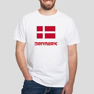 Denmark Flag Retro Red Design T-Shirt