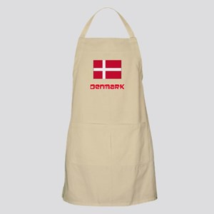 Denmark Flag Retro Red Design Light Apron