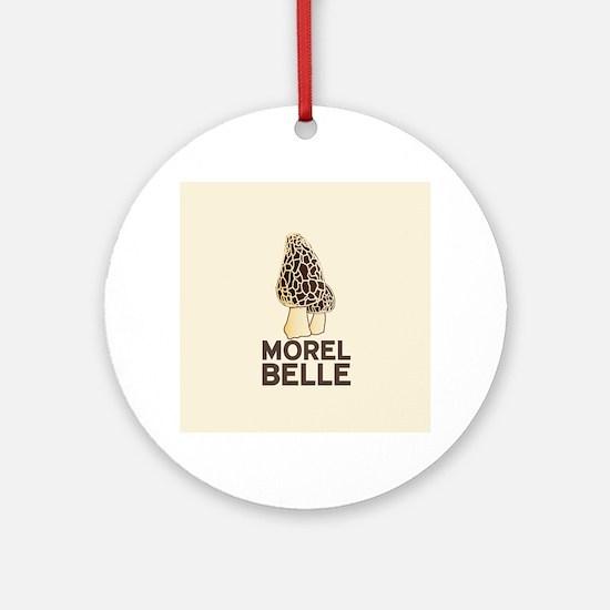 Morel Belle Ornament (Round)