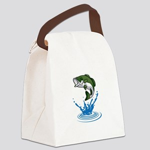 Bass Jumping Canvas Lunch Bag