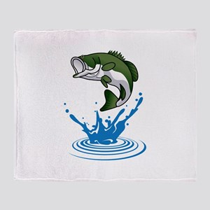 Bass Jumping Throw Blanket