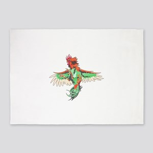 Fighting Rooster 5'x7'Area Rug