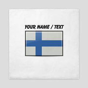 Finland Flag (Custom) Queen Duvet