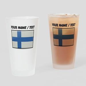 Finland Flag (Custom) Drinking Glass