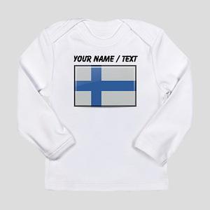 Finland Flag (Custom) Long Sleeve T-Shirt