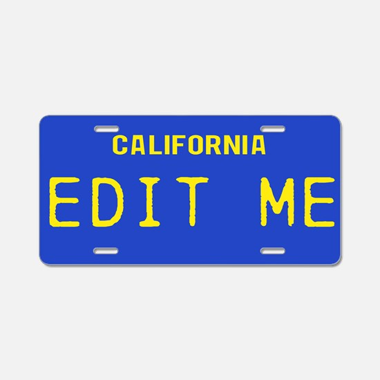 California - 1982 Vintage Aluminum License Plate