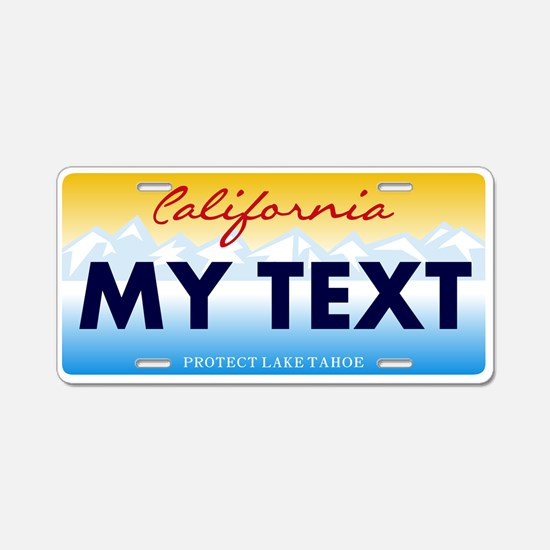 California Lake Tahoe Aluminum License Plate