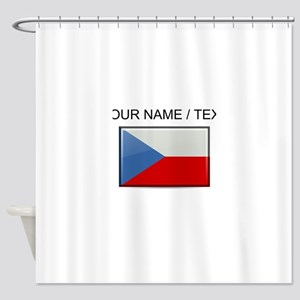 Czech Republic Flag (Custom) Shower Curtain