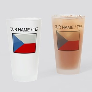 Czech Republic Flag (Custom) Drinking Glass