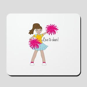 Love To Cheer! Mousepad