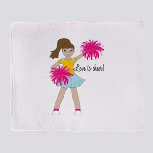 Love To Cheer! Throw Blanket