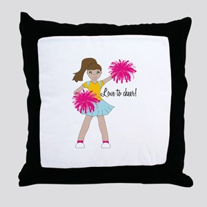 Love To Cheer! Throw Pillow