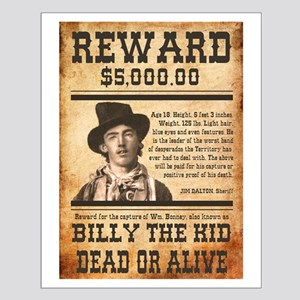 Nostalgic Billy The Kid Wanted Small Poster