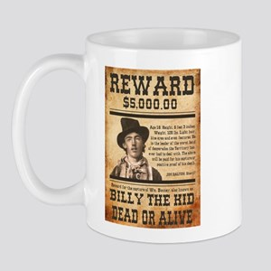 Nostalgic Billy The Kid Wanted Poster Mugs