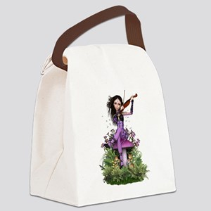 Amethyst Fairy ~ Summer Melody Canvas Lunch Bag
