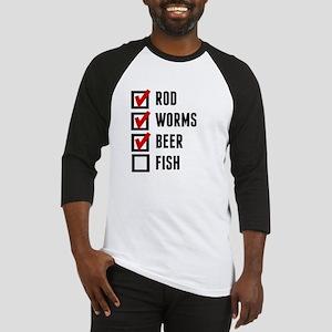 Fishing Checklist Baseball Jersey