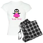 Personalizable Penguin in Pink Pajamas