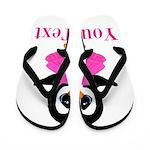 Personalizable Penguin in Pink Flip Flops