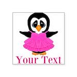 Personalizable Penguin in Pink Sticker