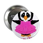 Personalizable Penguin in Pink 2.25