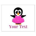 Personalizable Penguin in Pink Posters