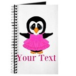 Personalizable Penguin in Pink Journal