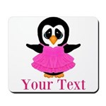 Personalizable Penguin in Pink Mousepad