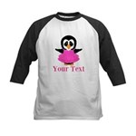 Personalizable Penguin in Pink Baseball Jersey