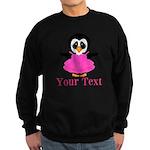 Personalizable Penguin in Pink Sweatshirt