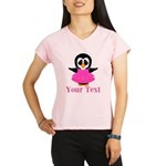 Personalizable Penguin in Pink Performance Dry T-S