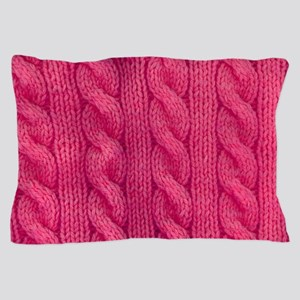 Wool cable stitches Pillow Case