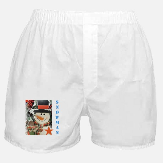 Snowman Star. Boxer Shorts