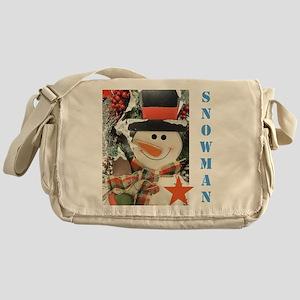 Snowman Star. Messenger Bag
