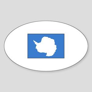 Antarctica Flag Oval Sticker