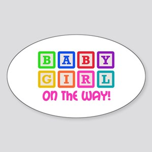 BABY GIRL ON THE WAY Sticker