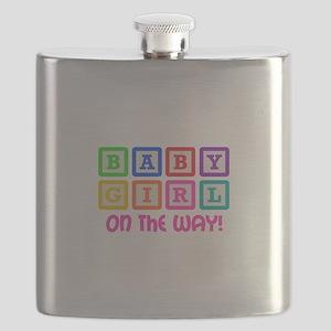 BABY GIRL ON THE WAY Flask