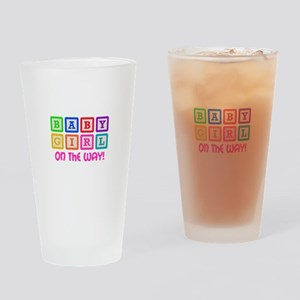 BABY GIRL ON THE WAY Drinking Glass