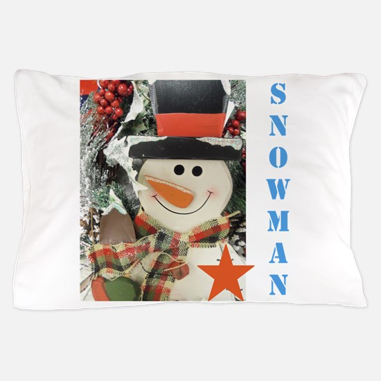 Snowman Star. Pillow Case