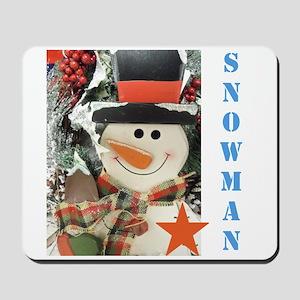 Snowman Star. Mousepad
