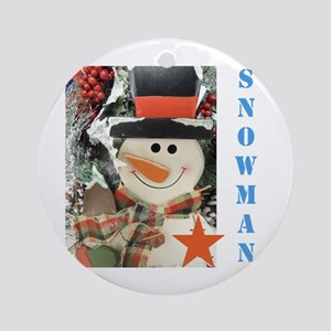 Snowman Star. Ornament (round)