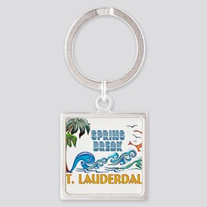 3D Palms Waves Sunset Spring Break FT LA Keychains